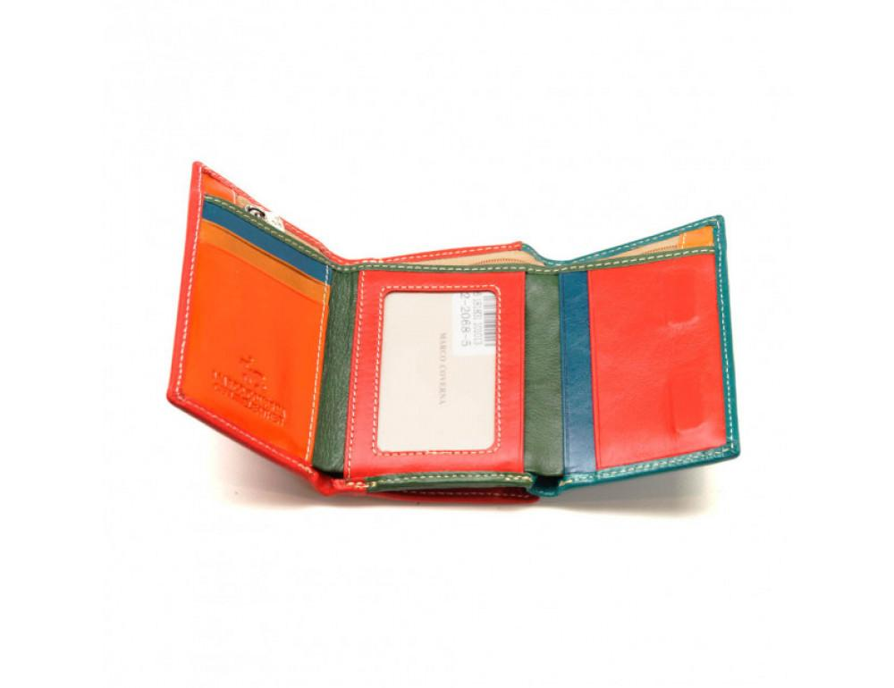 Синий кожаный кошелёк Marco Coverna 2-2068-5 - Фото № 3