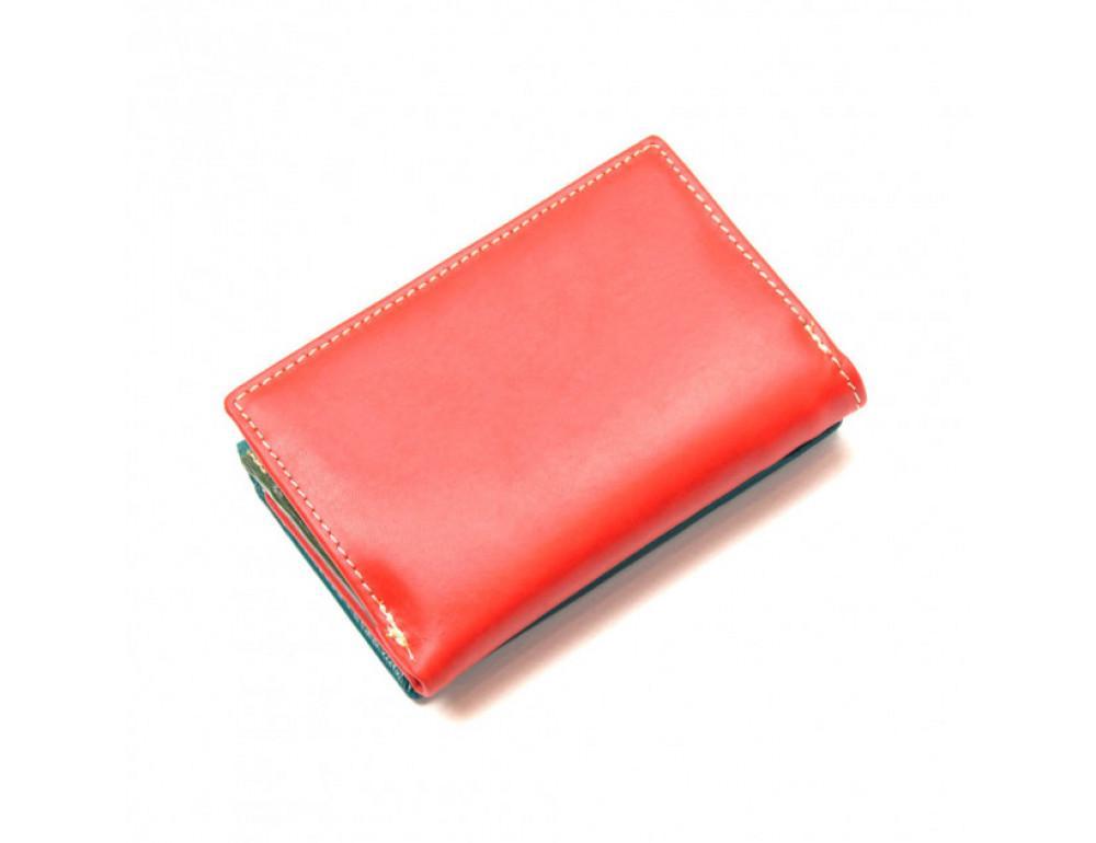 Синий кожаный кошелёк Marco Coverna 2-2068-5 - Фото № 2