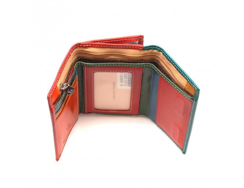 Синий кожаный кошелёк Marco Coverna 2-2068-5 - Фото № 4