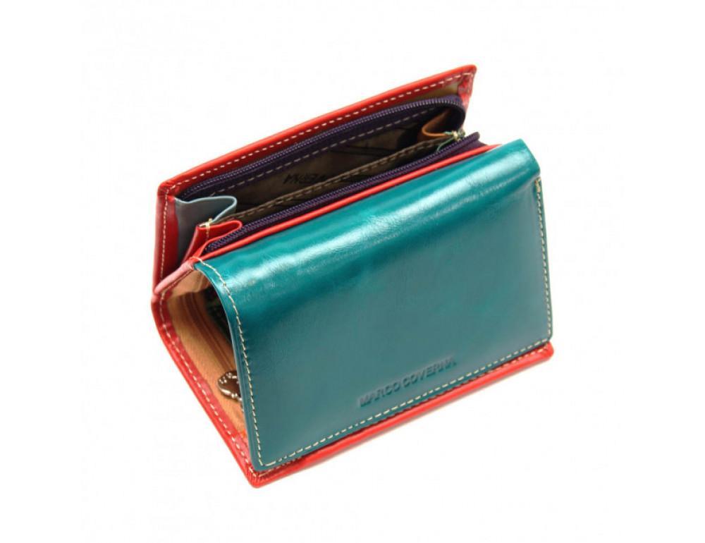 Синий кожаный кошелёк Marco Coverna 2-2068-5 - Фото № 5