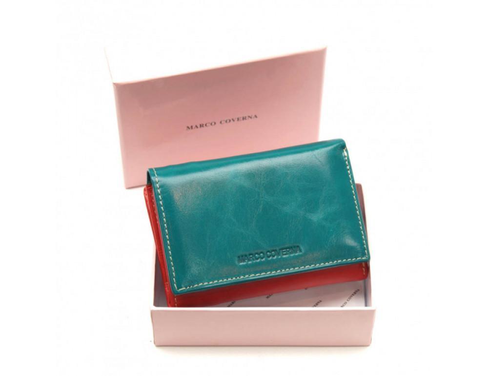 Синий кожаный кошелёк Marco Coverna 2-2068-5 - Фото № 6