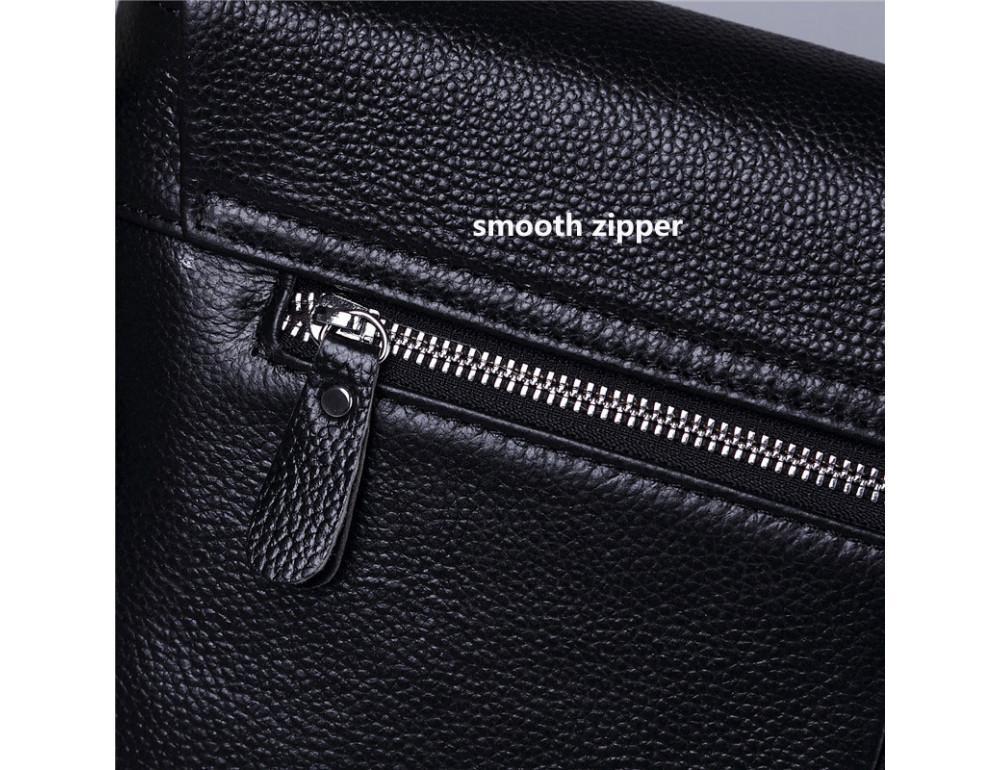 Черная горизонтальная сумка формата а-4 Tiding Bag 2121A - Фото № 5