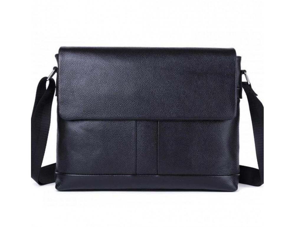 Черная горизонтальная сумка формата а-4 Tiding Bag 2121A