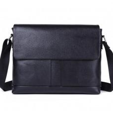 Чорна горизонтальна сумка формату а-4 Tiding Bag 2121A