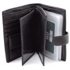 Чёрный кожаный портмоне под документы MD Leather 22-302b - Фото № 101