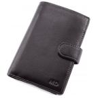 Чёрный кожаный портмоне под документы MD Leather 22-302b - Фото № 100