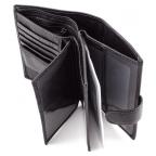 Чёрный кожаный портмоне под документы MD Leather 22-302b - Фото № 102