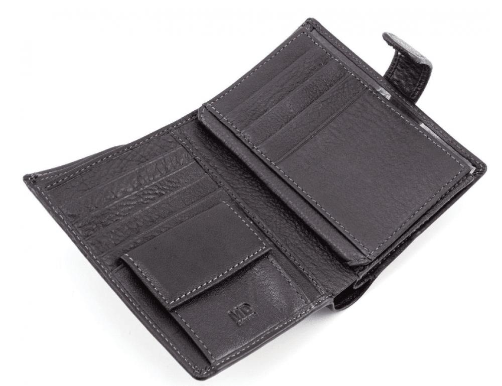 Чёрный кожаный портмоне под документы MD Leather 22-302b - Фото № 4