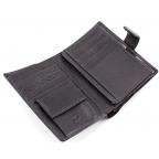 Чёрный кожаный портмоне под документы MD Leather 22-302b - Фото № 103