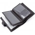 Чёрный кожаный портмоне под документы MD Leather 22-302b - Фото № 104