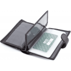 Чёрный кожаный портмоне под документы MD Leather 22-302b - Фото № 105