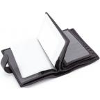 Чёрный кожаный портмоне под документы MD Leather 22-302b - Фото № 106