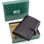 Чёрный кожаный портмоне под документы MD Leather 22-302b - Фото № 107