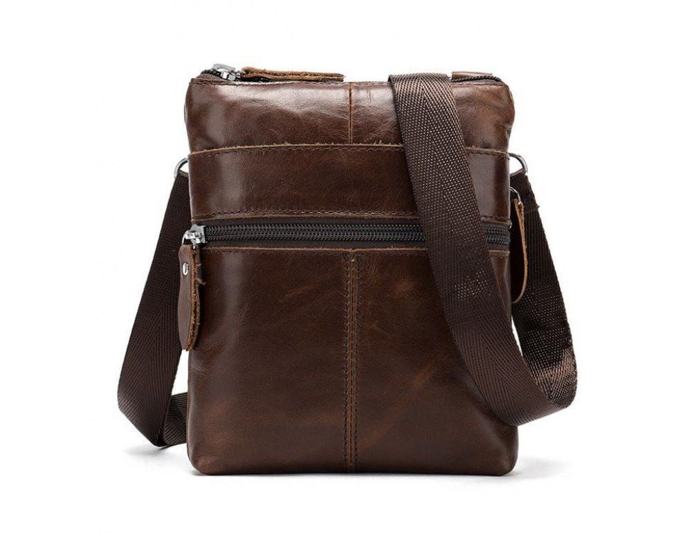 Маленькая коричневая мужская сумка через плечо Tiding Bag 2222C