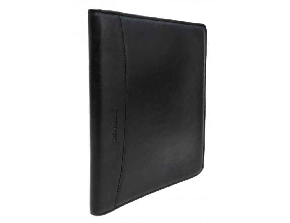 Чёрная папка кожаная под документы Black Diamond bd23a - Фото № 3