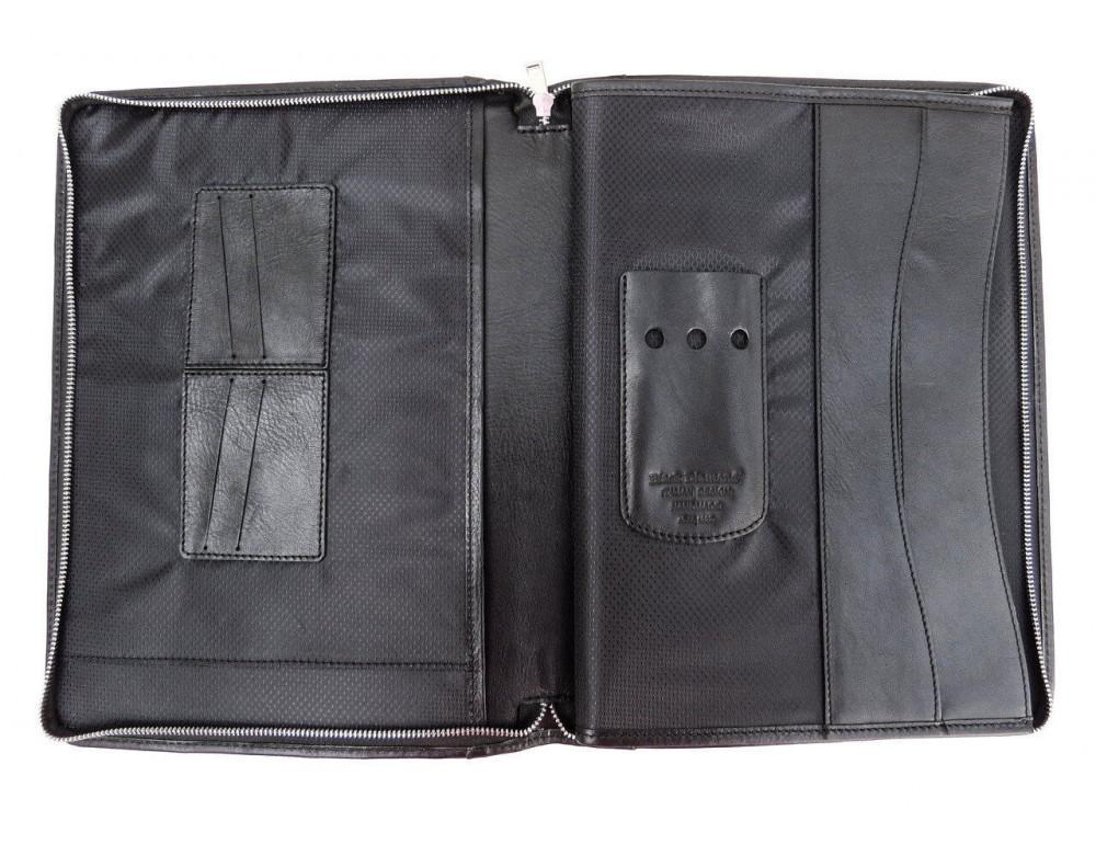Чёрная папка кожаная под документы Black Diamond bd23a - Фото № 7