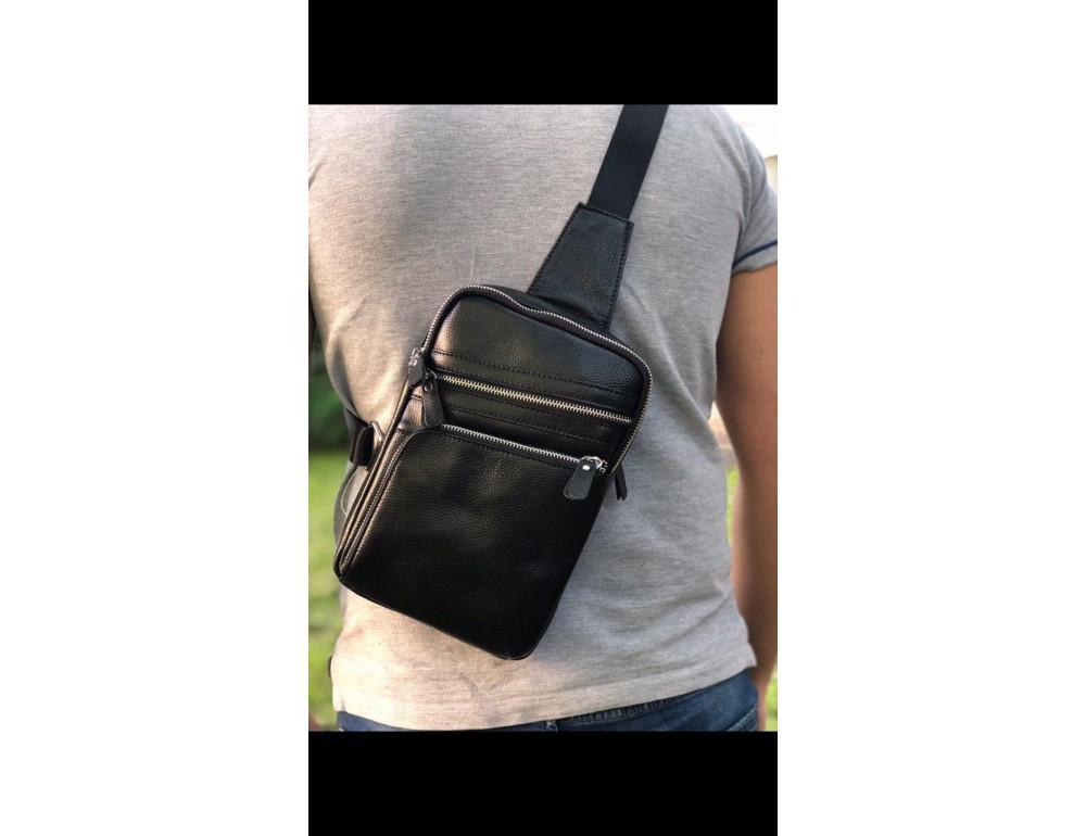 Мужской кожаный мессенджер TIDING BAG A25-6896A - Фото № 2