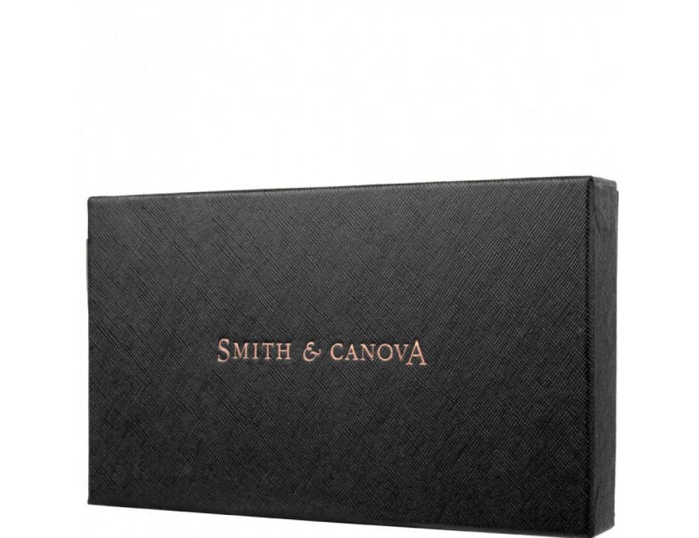 Чёрный женский кожаный кошелёк Smith & Canova 26800 BLK-TAN - Фото № 5