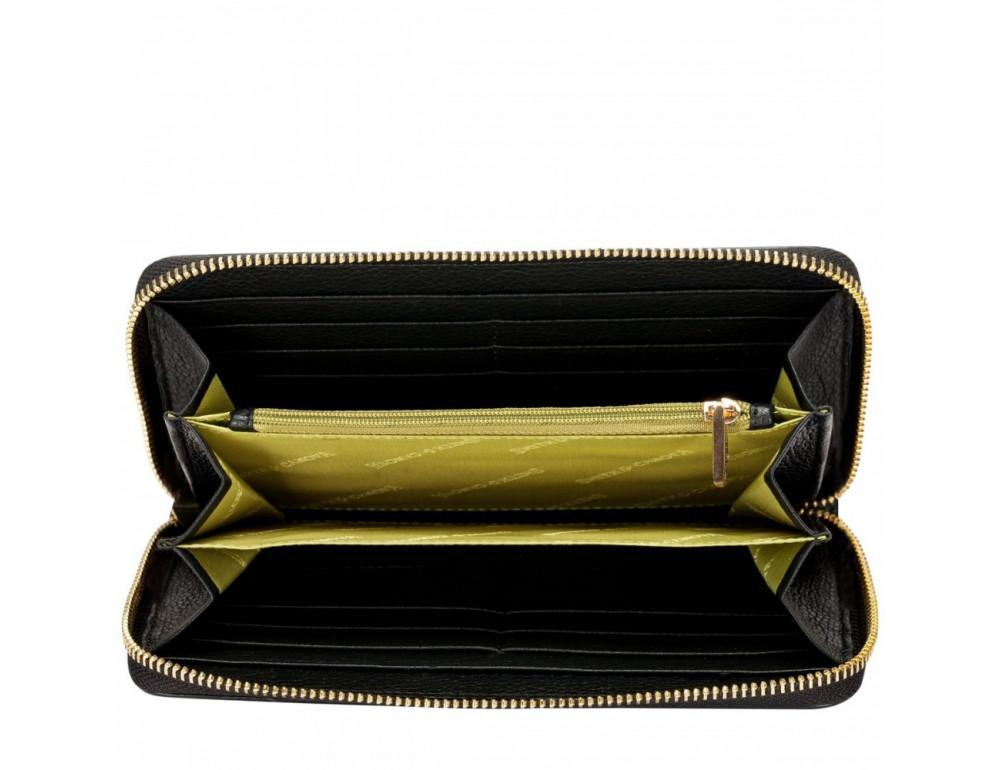 Чёрный женский кожаный кошелёк Smith & Canova 26800 BLK-TAN - Фото № 3