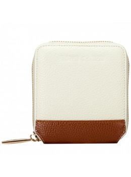 Кремовий маленький гаманець на блискавки Smith & Canova 26803 CREAM-TAN