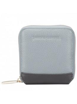 Серый кожаный кошелёк Smith & Canova 26803 GREY-DKGREY Althorp