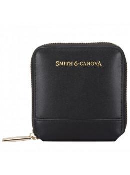 Маленький жіночий гаманець чорного кольору Smith & Canova 26812 BLK Josephine