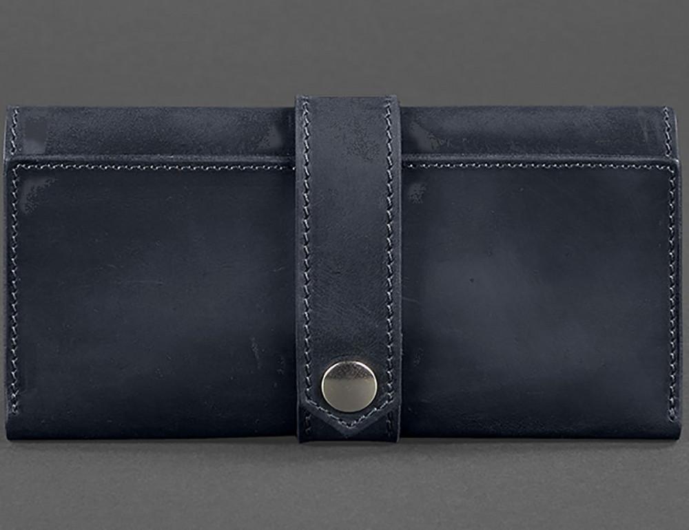 Синий кожаный кошелек Blanknote BN-PM-3-NN - Фото № 3