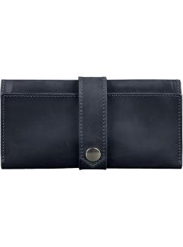 Синий кожаный кошелек Blanknote BN-PM-3-NN