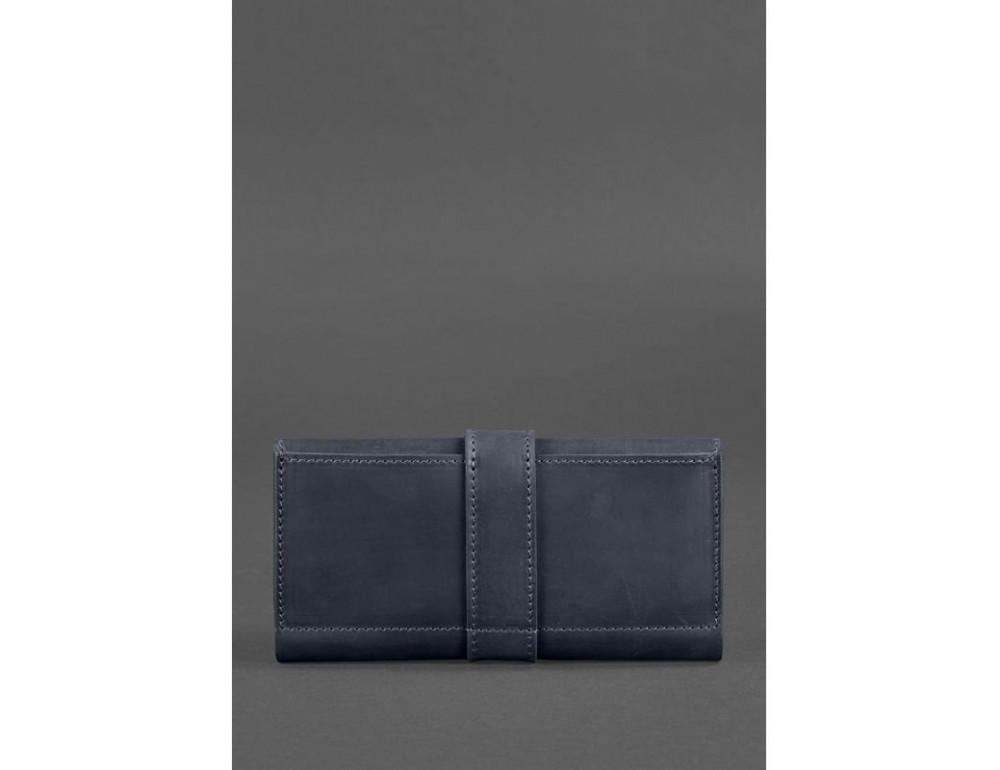 Синий кожаный кошелек Blanknote BN-PM-3-NN - Фото № 4