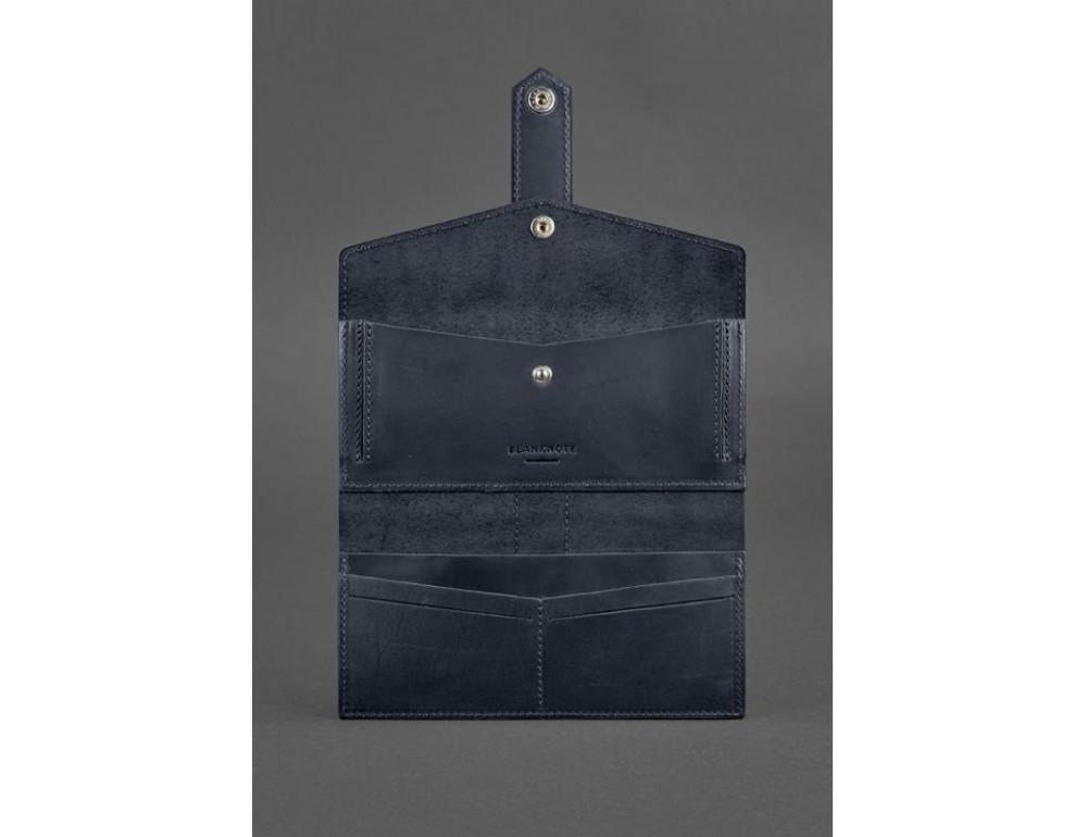 Синий кожаный кошелек Blanknote BN-PM-3-NN - Фото № 5
