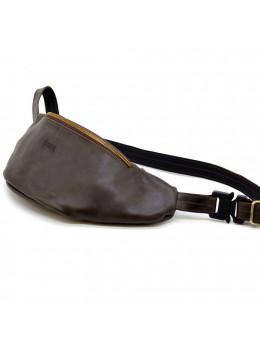 Темно-коричнева напоясний сумка шкіряна TARWA TC-3036-4lx
