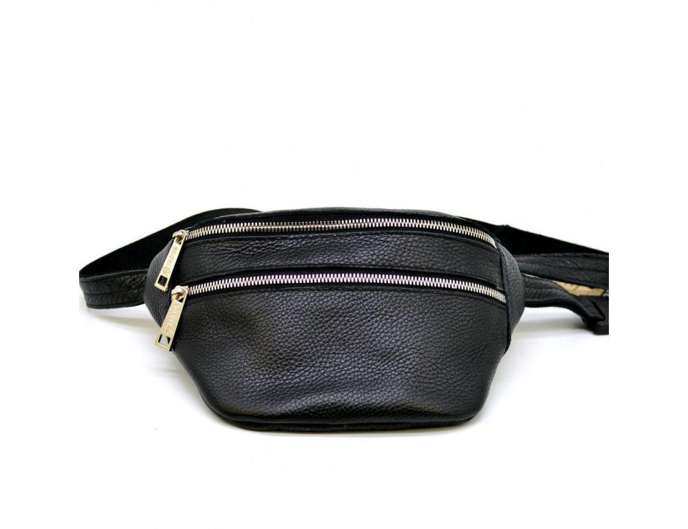 Чёрная напоясная сумка из кожи TARWA FA-3093-4lx - Фото № 1