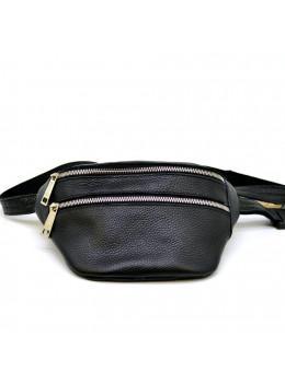 Чорна напоясний сумка зі шкіри TARWA FA-3093-4lx
