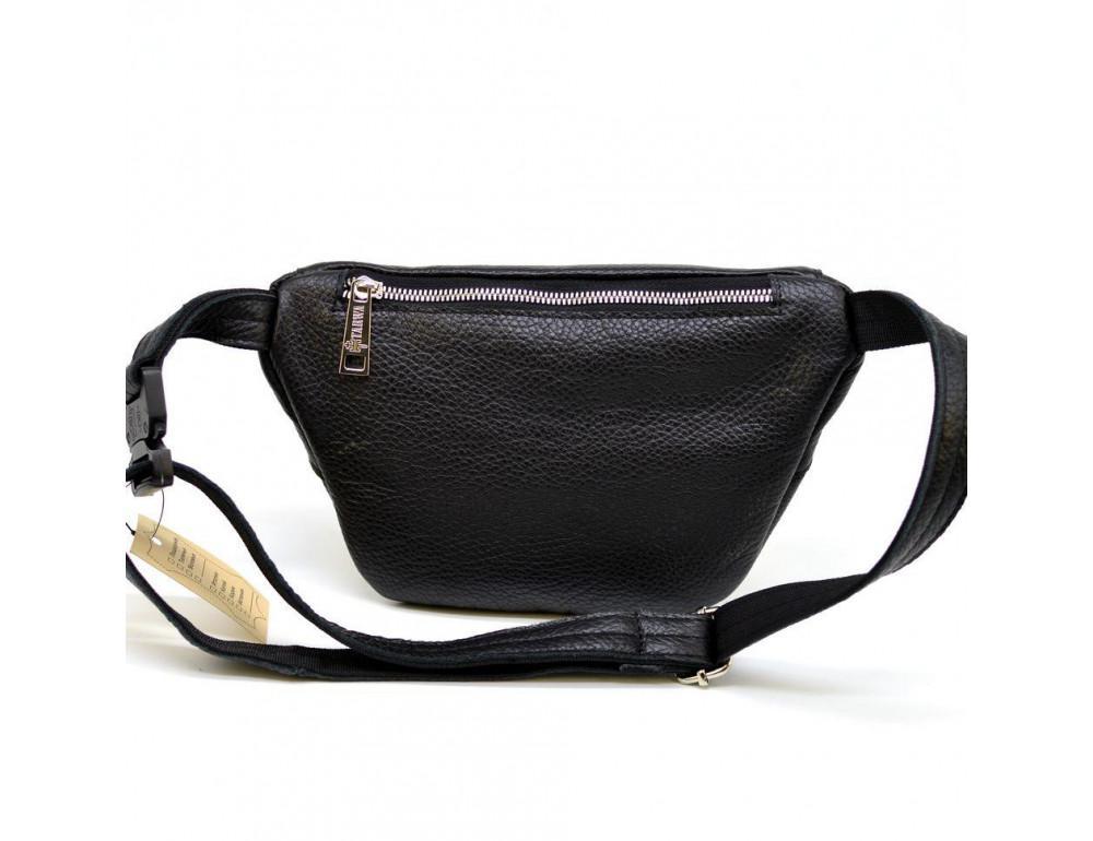 Чёрная напоясная сумка из кожи TARWA FA-3093-4lx - Фото № 2