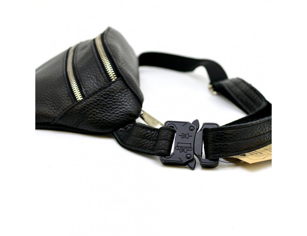 Чёрная напоясная сумка из кожи TARWA FA-3093-4lx - Фото № 3