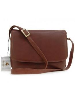 Светло-коричневая женская кожаная сумка Visconti 3190 BRN Claudia
