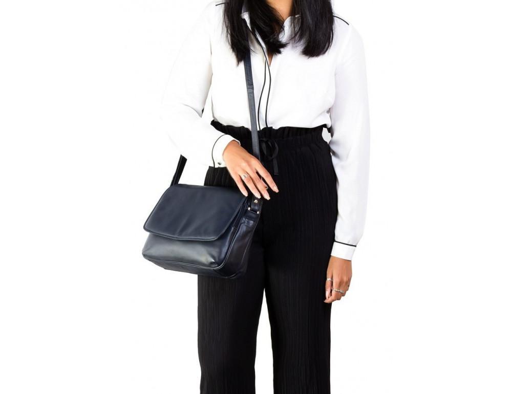 Чёрная женская кожаная сумка Visconti 3190 BLK Claudia - Фото № 2