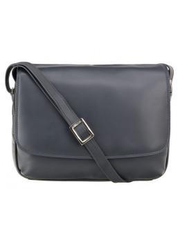 Тёмно-синяя женская кожаная сумка Visconti 3190 NV Claudia