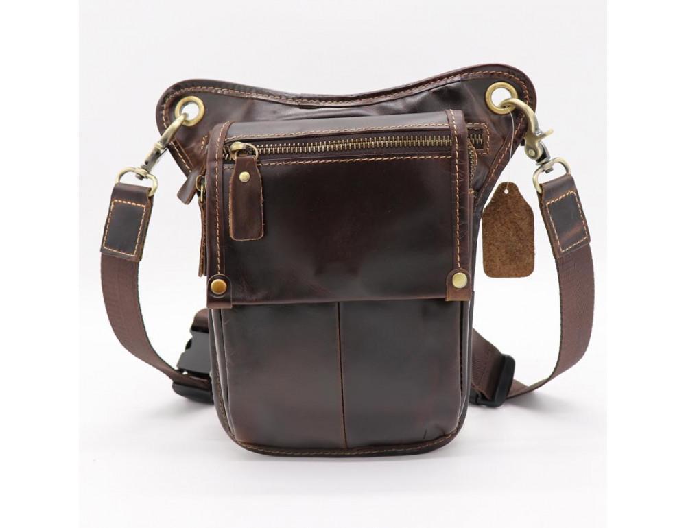 Коричневая сумка на ногу Tiding Bag 3237C - Фото № 1