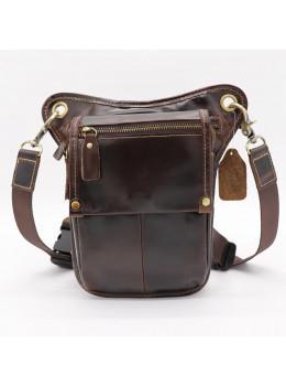 Коричневая сумка на ногу Tiding Bag 3237C