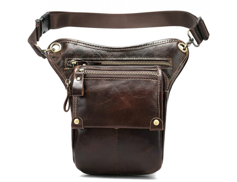 Коричневая сумка на ногу Tiding Bag 3237C - Фото № 4