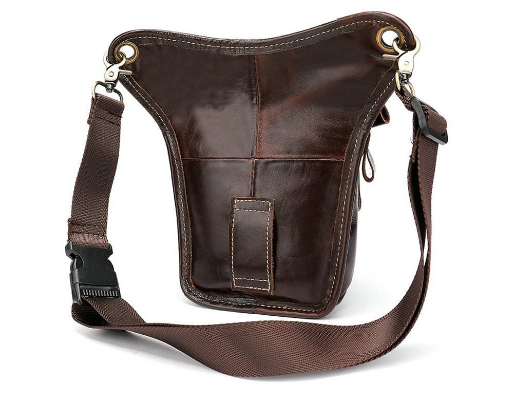 Коричневая сумка на ногу Tiding Bag 3237C - Фото № 5