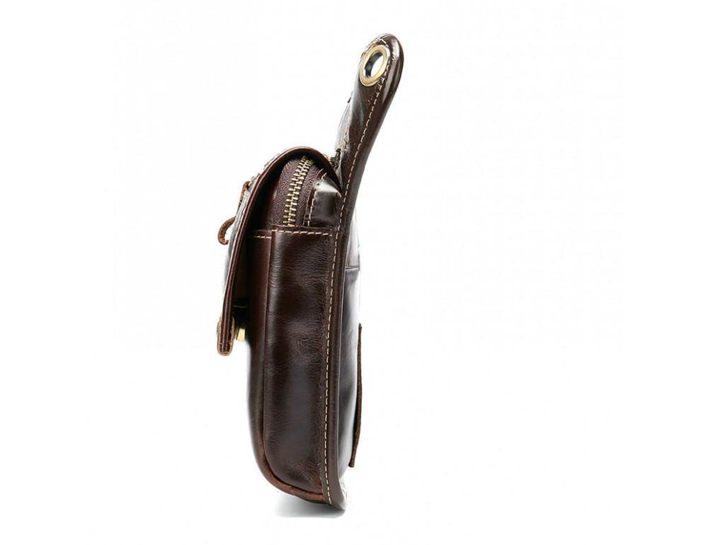 Коричневая сумка на ногу Tiding Bag 3237C - Фото № 7