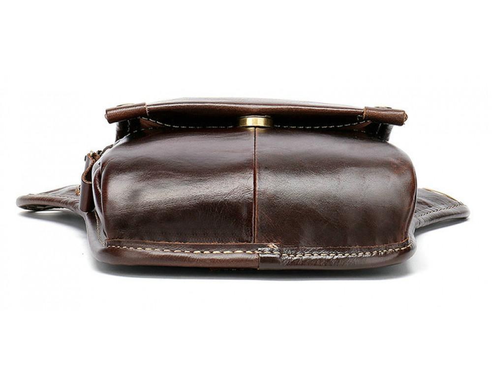 Коричневая сумка на ногу Tiding Bag 3237C - Фото № 8