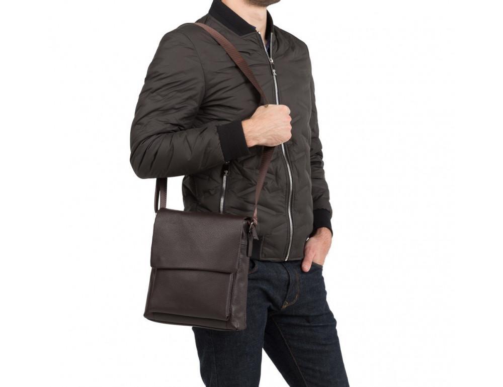 Мужская кожаная сумка-мессенджер TIDING BAG A25-1278C - Фото № 2