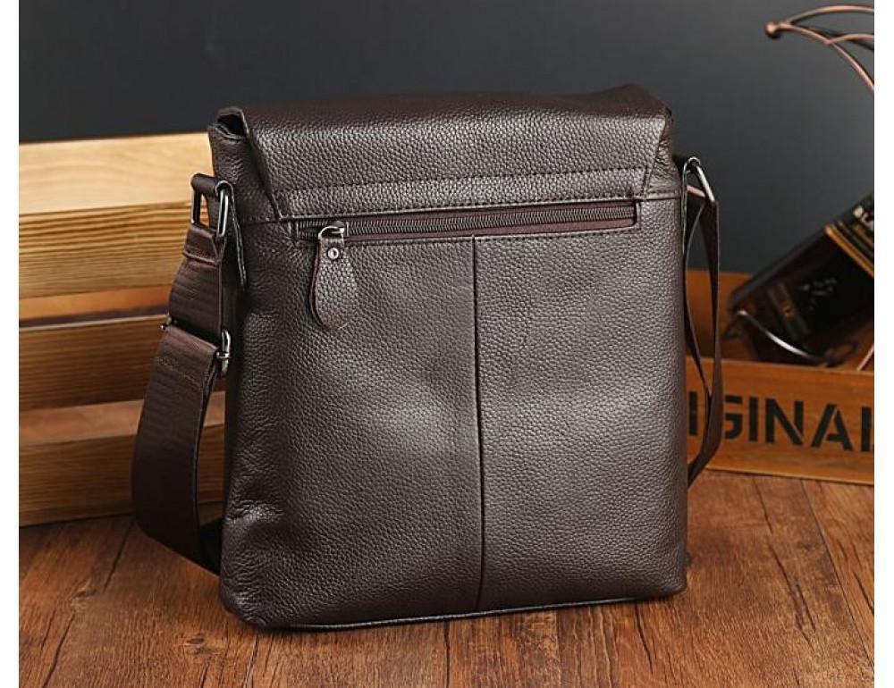 Мужская кожаная сумка-мессенджер TIDING BAG A25-1278C - Фото № 3