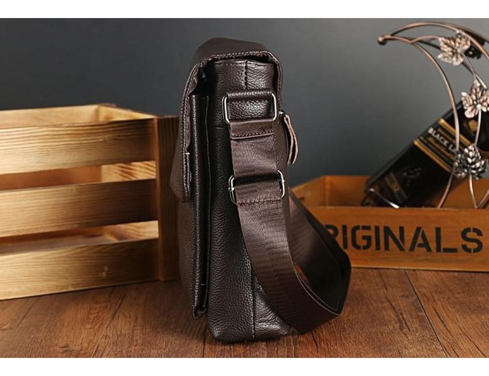 Мужская кожаная сумка-мессенджер TIDING BAG A25-1278C - Фото № 7