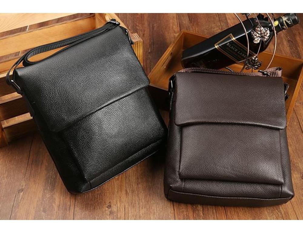 Мужская кожаная сумка-мессенджер TIDING BAG A25-1278C - Фото № 8