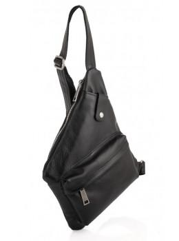 Чорна шкіряна сумка-слінг кобура TARWA GA-6501-4lx