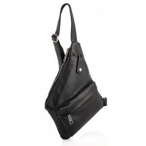 Чёрная кожаная сумка-слинг кобура TARWA GA-6501-4lx